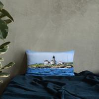 Beavertail Lighthouse Basic Pillow