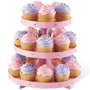 Cupcake Stand Pink Borders
