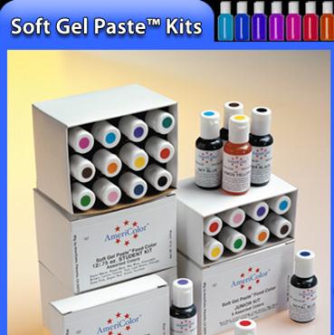 AmeriColor Electric Gel Paste Food Color Kit 12x21g - iBake