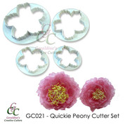 Quickie Peony Cutter Set - Set of 4