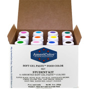 AmeriColor Soft Gel Paste Food Color Original Student Kit 12x21g