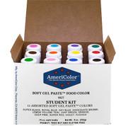 AmeriColor Soft Gel Paste Food Color Original Student Kit 12x21g