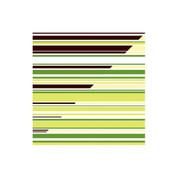 Chocolate Transfer Sheet Green Stripe