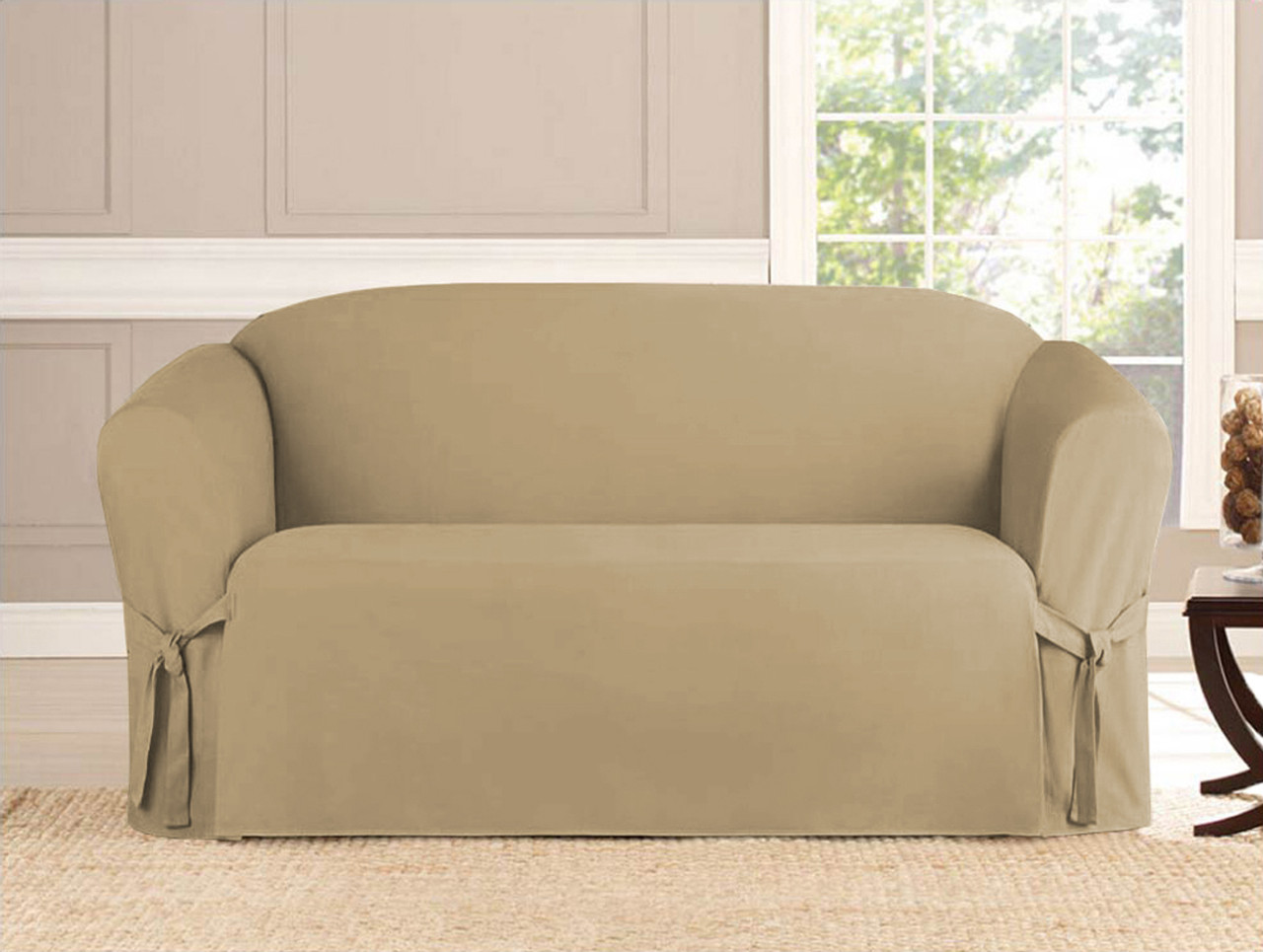 2 Piece Microsuede Furniture Slipcover Linen Store