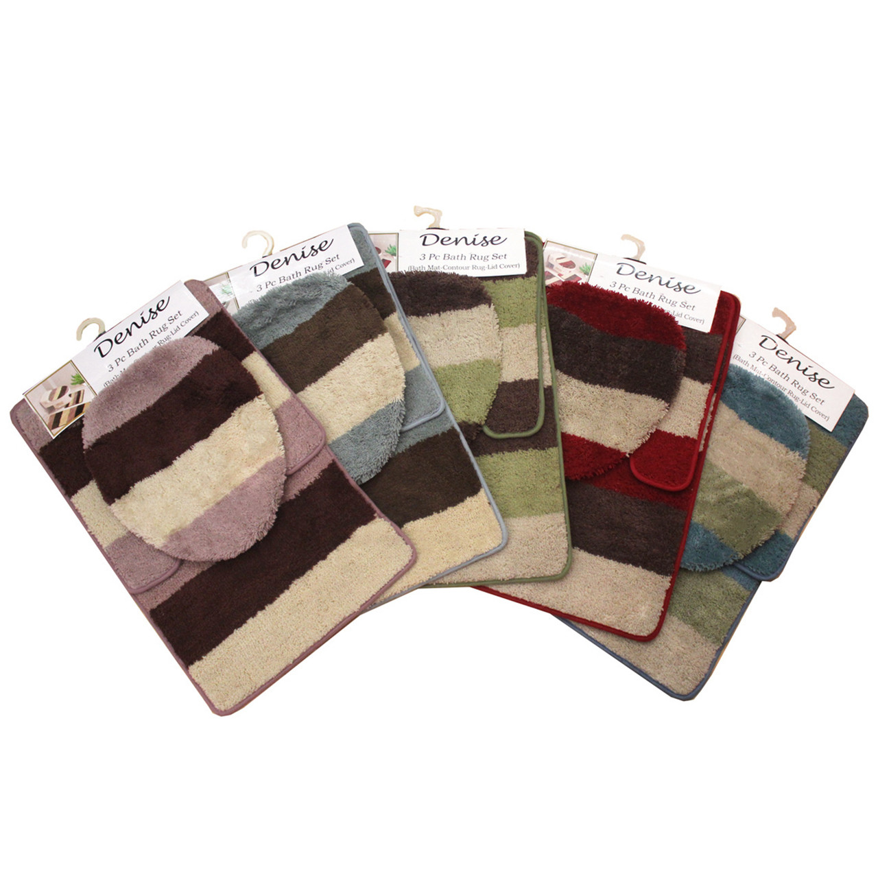 Denise 3 Pc Bath Rug Linen Store