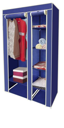 portable linen closet navy blue 40 quot portable storage closet linen 1612
