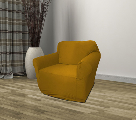 Gold Jersey Sofa Stretch Slipcover Couch Cover Love Seat