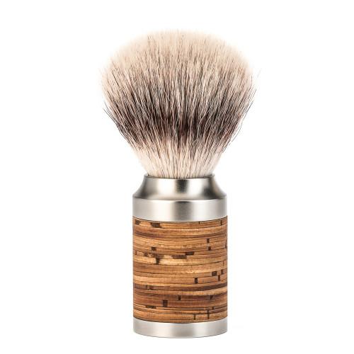 Rocca Birch Bark Shaving Brush with Silvertip Fibre