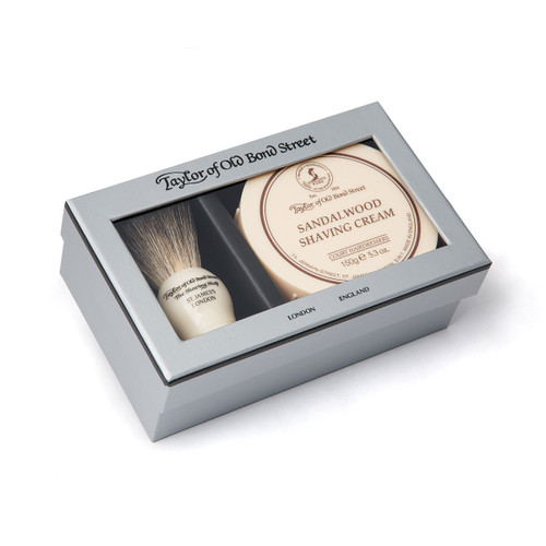 Taylor Old Bond St Sandalwood Brush and Cream Gift Set