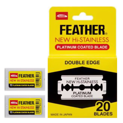 20 Feather Razor Blades