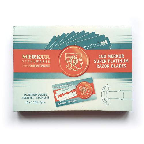 100 Merkur Platinum Razor Blades