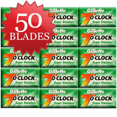 50 Gillette Green Blades