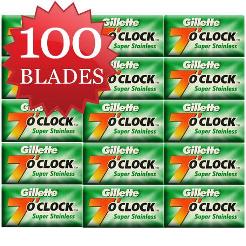 100 Gillette Super Stainless Green Blades