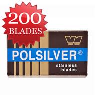 200 Polsilver Razor Blades