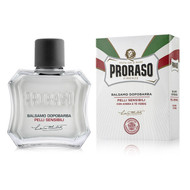 Proraso White Sensitive Liquid Cream Aftershave Balm with Green Tea & Oat