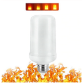 LED Flame Effect Light Bulb - Simulated Fire Flicker Lamp