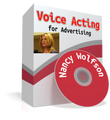 Voice over coach Nancy Wolfson 2.8 hour lesson for voice actors who specialize in VO for advertising.