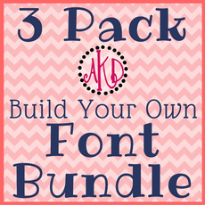"3 Pack ""Build Your Own"" Font or Monogram Bundle Deal - Machine Embroidery Designs"