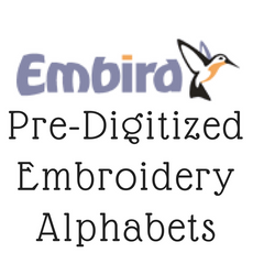 Embird Pre-Digitized Embroidery Alphabets Fonts