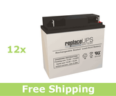 Alpha Technologies CFR 7.5K (017-081-XX) - UPS Battery Set