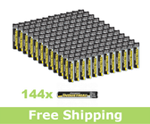Energizer EN91 Alkaline Batteries - AA (Set of 144)