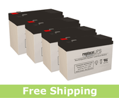 APC / Dell Smart-UPS 1400 Rack Mount 3U (DL1400RM) Replacement Batteries (Set of 4)