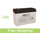 Emerson-Liebert GXT2 288V Replacement Batteries (Set of 12)