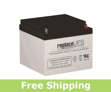 Raion Power RG12260FP 12 Volt 26 Amp Hour NB Battery (Replacement)