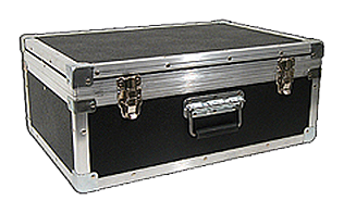 suitcase style with hinged lid