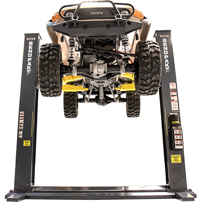 BendPak XPR-9S-DC 22-lb  Capacity, 1/10 Scale Two-Post Lift, Die-Cast