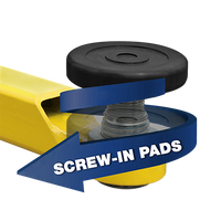 BendPak Adjustable Screw Lift Pads  With Receiver- 60mm PIN(Set of 4)
