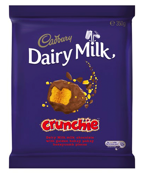 Cadbury Dairy Milk Large Crunchie Blocks, by Cadbury,  and more Confectionery at The Professors Online Lolly Shop. (Image Number :9270)