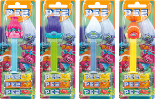 Pez Candy Dispensers - Trolls, by Pez,  and more Confectionery at The Professors Online Lolly Shop. (Image Number :11086)