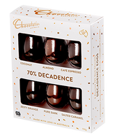 Chocolatier -Decadent Dark 6 Pack Egg Selection and more Confectionery at The Professors Online Lolly Shop. (Image Number :14096)