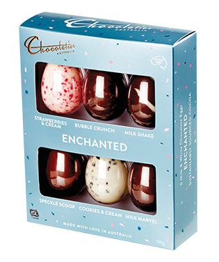 Chocolatier - Enchanted 6 Pack Egg Selection and more Confectionery at The Professors Online Lolly Shop. (Image Number :14099)