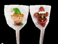 Candy Showcase Christmas Elf & Rudolph Pops (24pc - 264g Jar)