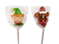 Candy Showcase Christmas Elf & Rudolph Pops and more Confectionery at The Professors Online Lolly Shop. (Image Number :13458)