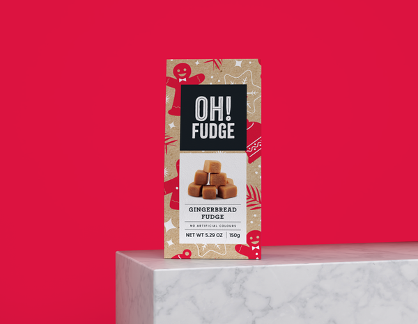 OH! Fudge - Gingerbread Flavoured Fudge and more Confectionery at The Professors Online Lolly Shop. (Image Number :13492)