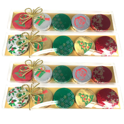 Chocolate Gems - Christmas Medallions - Gold, by Chocolate Gems,  and more Confectionery at The Professors Online Lolly Shop. (Image Number :13397)