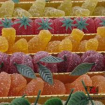 Belgian Pate De Fruit - 62 Fruit Jellies with Stalk and more Confectionery at The Professors Online Lolly Shop. (Image Number :13321)