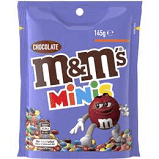 M&M Mini - BULK Pouches (12 x 145g bag)  - B/B 13/4/21