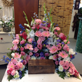 Pink White and Blue Cremains Arrangement