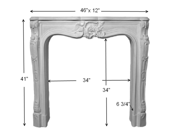 Our MT1001 stone fireplace mantel designs are relatively lightweight