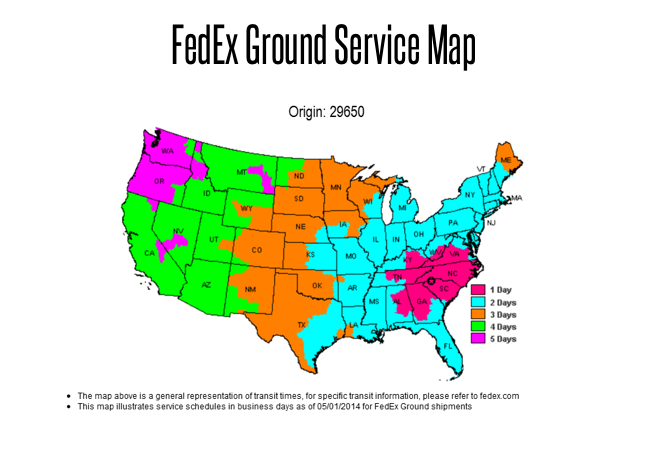 Fedex Ground Service Map Shipping Frequently Asked Questions   Circuit Board Medics Fedex Ground Service Map