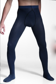 Adrian Stripes soft fashion tights for men