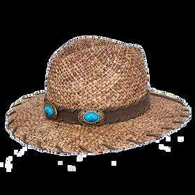 Peter Grimm - Barkis Straw Wide Brim Fedora Hat
