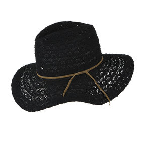 Peter Grimm - Lace 100% Cotton Resort Fedora Black