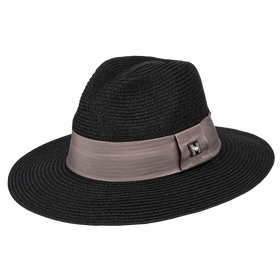 Peter Grimm - Corby 100% Straw Wide Brim Fedora Black