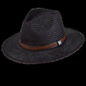 Peter Grimm - Radcliff 100% Chinese Panama Straw Wide Brim Fedora Black