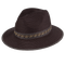 Peter Grimm - Viktor Wide Brim Fedora Brown